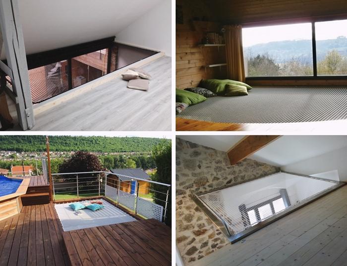 revetement terrasse bois filet habitation exterieur design interieur cordage filet hammac suspendu