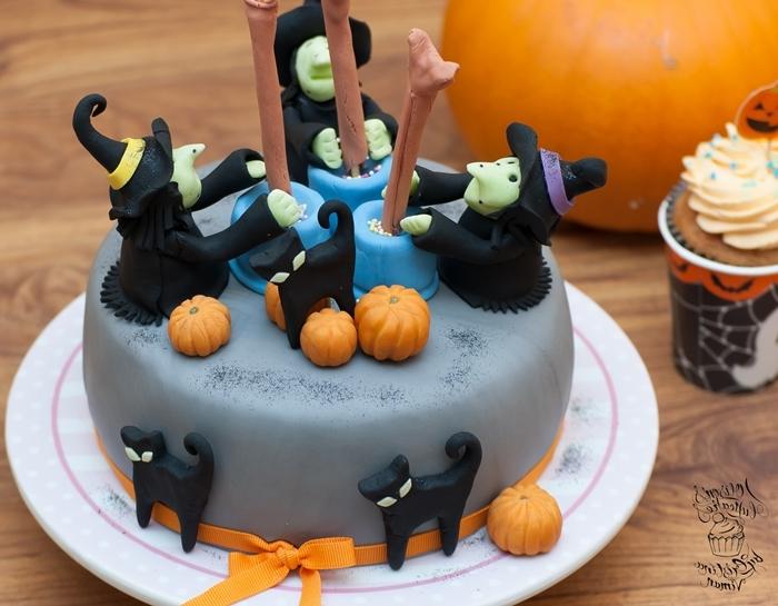 sourcière halloween pâte sucre gateau halloween facile glaçage royal citrouille mini fondant colorant alimentaire