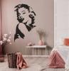 stickers muraux pour la chambre a coucher en rose dessin marilyn monroe