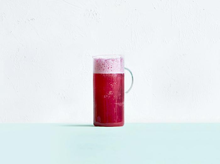 une boissons genre limonade de framboises pour un brunch rrectte brunch maison