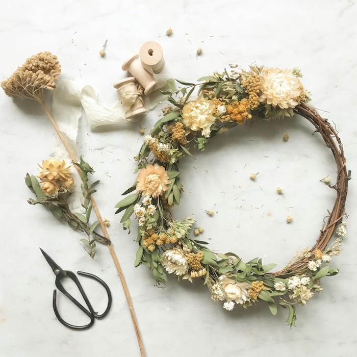 anniversaire confinement comment faire une guirlande de fleurs avec des ciseaux et des fils