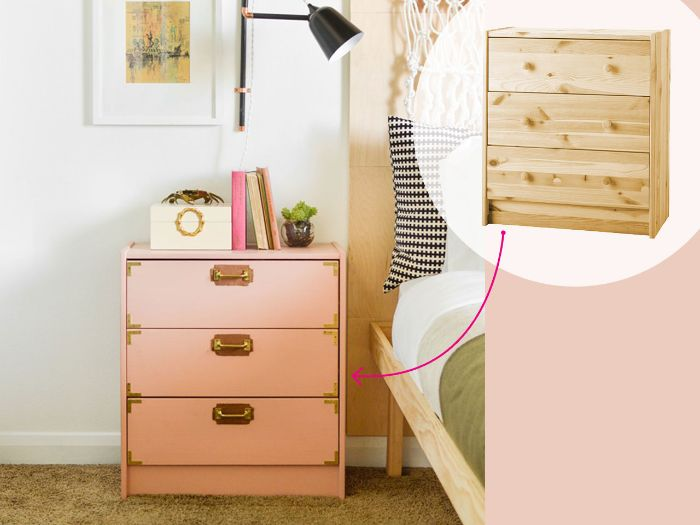 bidouilles ikea ou comment customiser ses meubles ikea à petit prix avec des la peinture poignées or