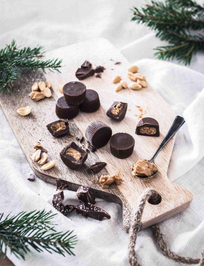 bonbons avec farce de beurre d arachide idée faire des chocolats avec moule en silicone recette facile friandise maison