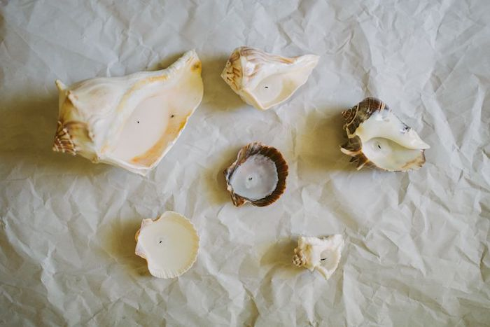 cadeau anniversaire original des bougies dans des coquilles de mer comment faire chez soi