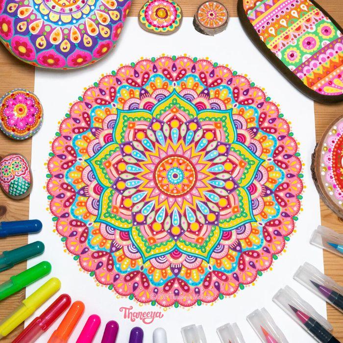 coloriage madala antistress idée coloriage adulte et enfant difficile que faire quand on s ennuie a la maison