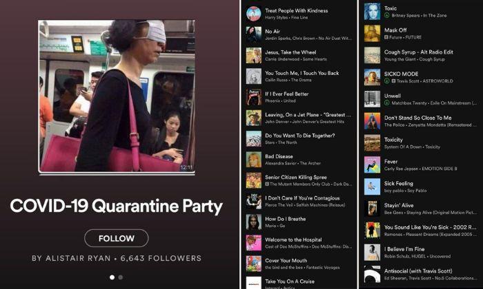 confinement que faire quand on s ennuie playlist spotify coronavirus party idées occupation temps libre