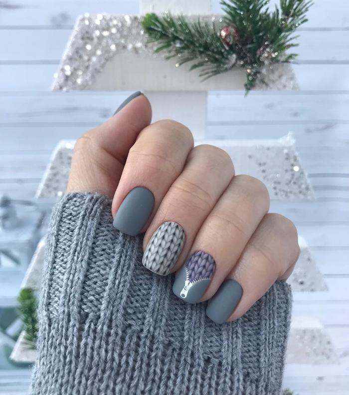 décoration hiver arbre noel palette diy guirlande deco ongle gel mate motifs pull over dessin nail art grosse maille