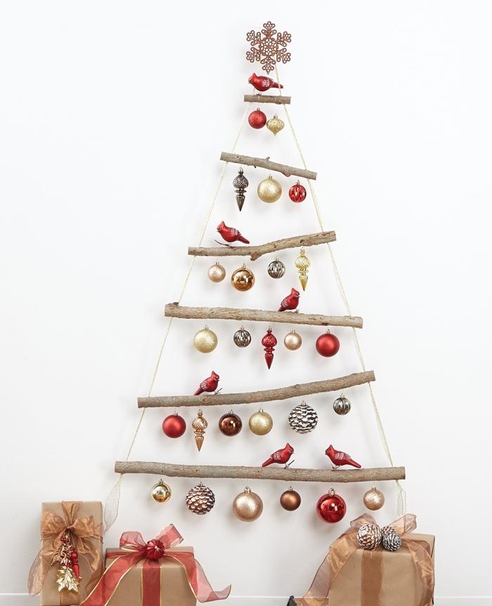 diy arbre de noel scandinave sapin suspnedue bois flotté corde décoration de noel à fabriquer en bois facile