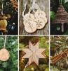 diy ornements de sapin decoration arbre de noel minimaliste avec objets diy en materiaux naturels batons bois