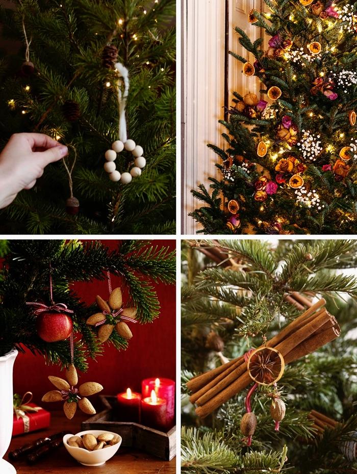 diy ornements sapin de noel en materiaux naturels tranches de fruits seches batons cannelle deco arbre de noel