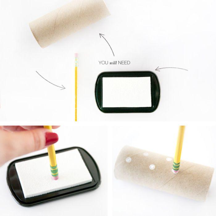 exemple que faire avec des rouleaux de papier toilette boite cadeau diy à otif polka dot blanc comment faire