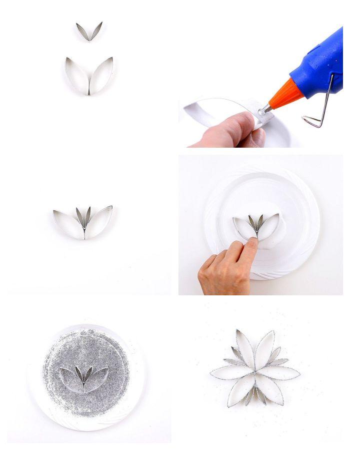 idée que peut on fabriquer avec des rouleau de papier toilette flocons de neige de papier a fabriquer pour noel deco noel diy