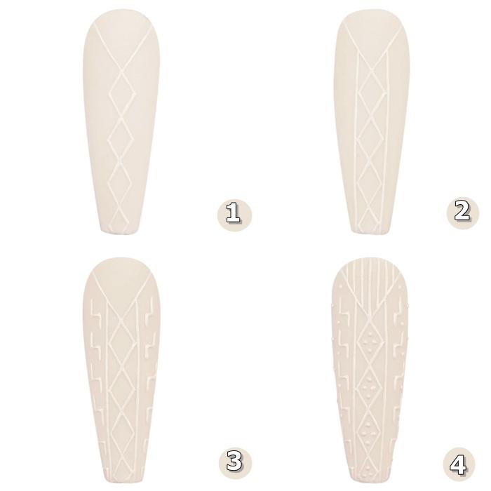 idee manucure pull over tendance vernis de base nude motifs geometriques pattern tricotage nail art