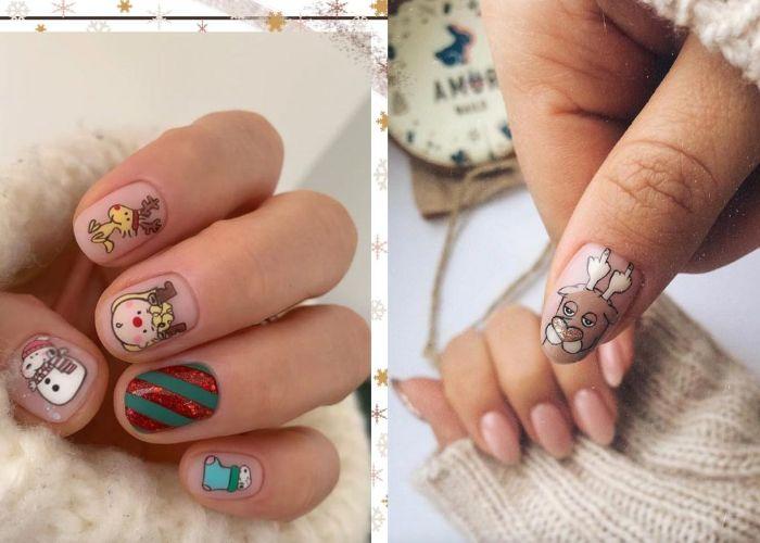 réaliser des dessins ongles hiver nail art noel idées originales de motis à réaliser sur ses ongles