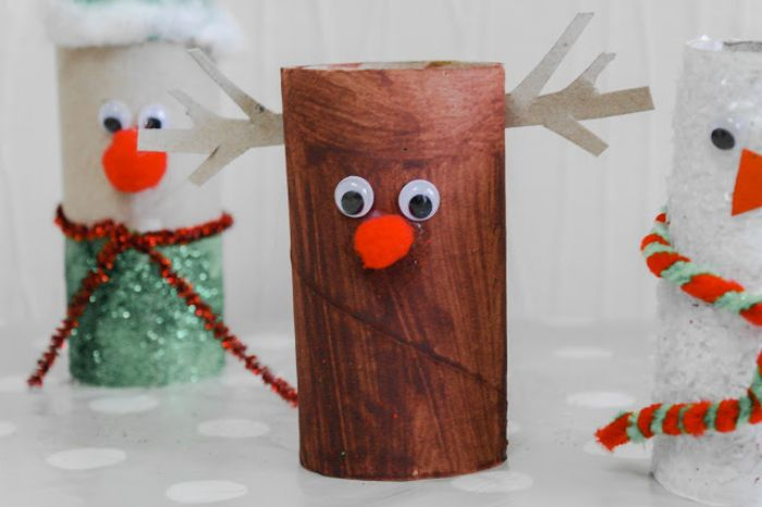 rudolph le renne au nez rouge bricolage papier toilette activité manuelle noel maternelle pompon rouge des yeux mobiles