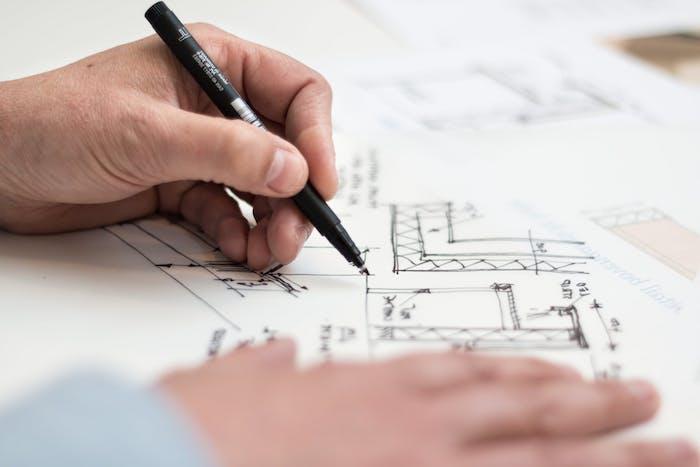 un plan archtectural pour la renovation d une maison