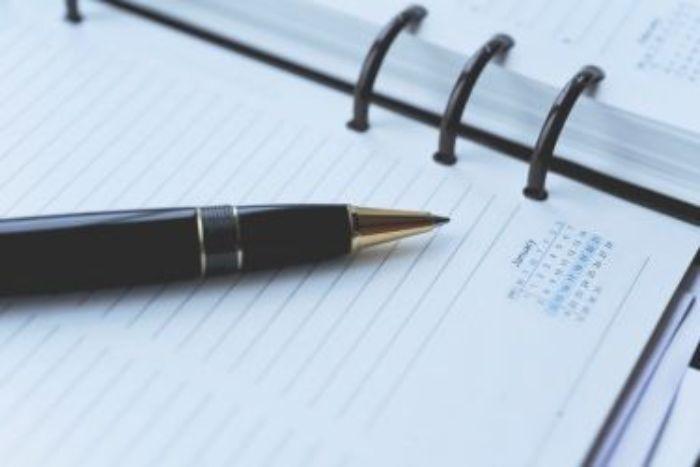 cahier de notes et stylo idée fournitures de bureau marketing par objet