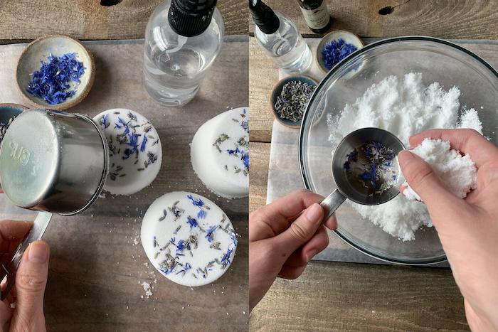 fabriquer ses cosmétiques avec des ingrédients naturels une boule de bain faite maison