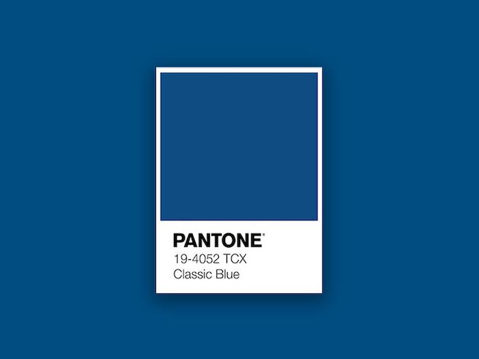 le couleur de l année 2021 bleu classique par l intitut pantone