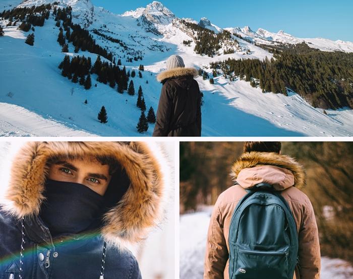parka d hiver pour homme couleurs vetements tendance mode 2020 capuche fourrure synthetique