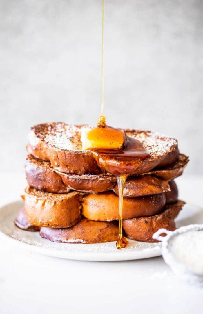 recette pain perdu de noel au lait de poule pour votre gouter de noel idée petit déjeuner originale et facile a faire