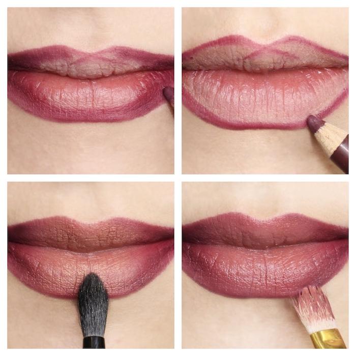 tuto maquillage levres debutant comment faire un rouge a levres ombre etape par etape