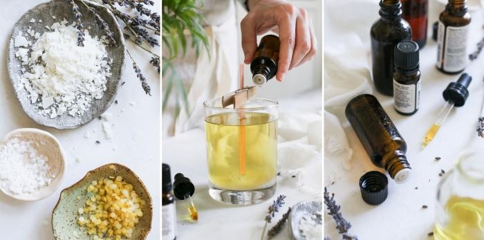 bougie parfumée naturelle huile essentielle cire végétale lavande processus fabrication de bougie