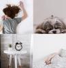 conseils choix literie linge de lit draps blancs motifs feuilles noires tête de lit noire décoration chambre