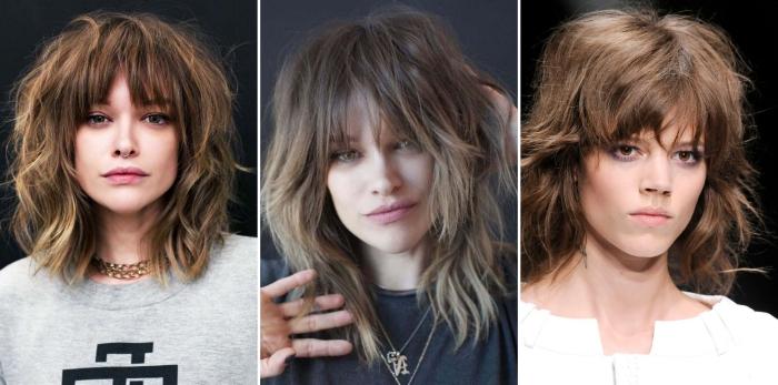 coupe cheveux dégradé volume crane pointes couches franges coupe cheveux mi longs