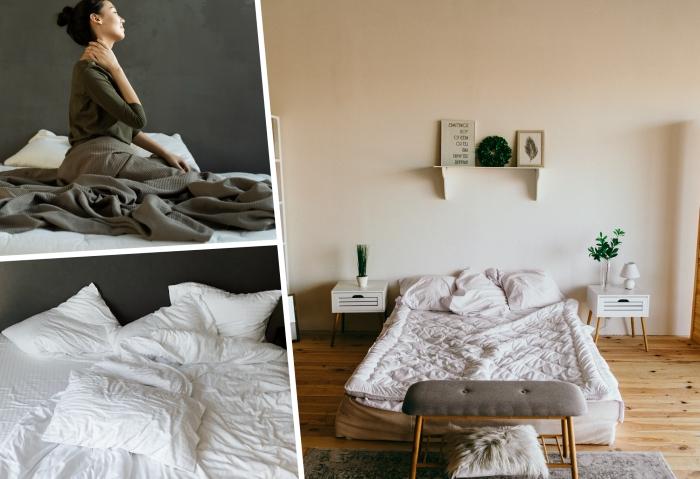 critère choix matelas bon sommeil confort linge de lit couleur blanche draps oreillers