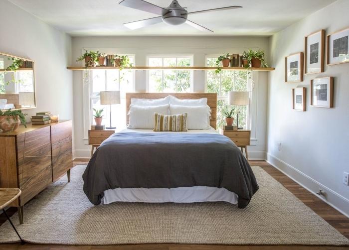 décoration chambre à coucher adulte photos tapis beige revêtement sol bois chambre meubles bois