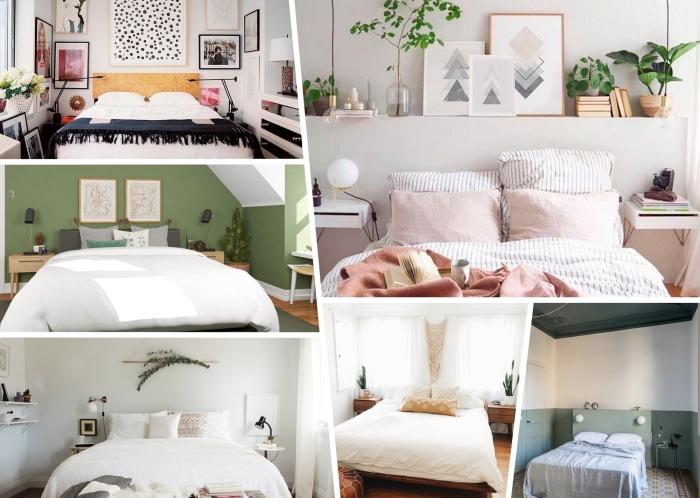 decor tendances 2020 comment décorer espace au dessus un lit suspension macramé cadres bois mur art