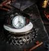 montre acier bois cadran marbre bijou original tendance accessoires mode accents bois
