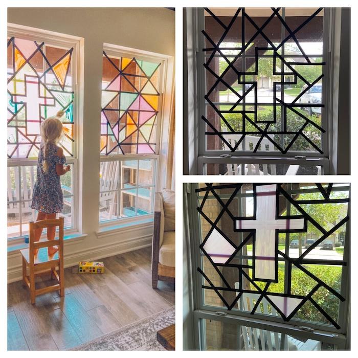 peinture sur verre les etapes a poursuivre pour dessiner la fenetre a la maison a l aide de la peinture acrylique