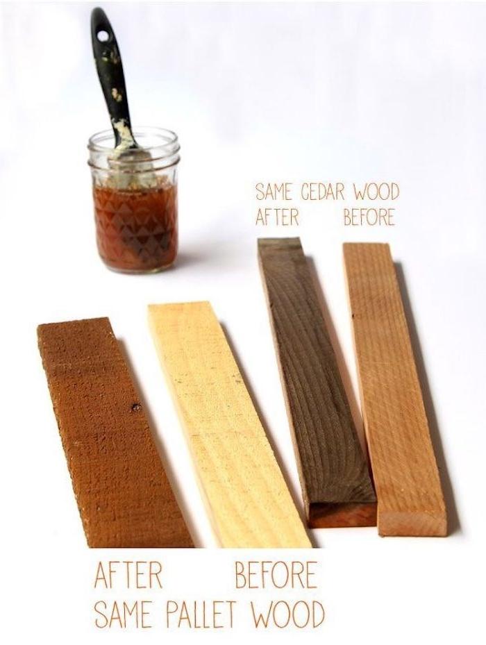 que faire avec le marc de café des pièces en bois et un pot en verre de café