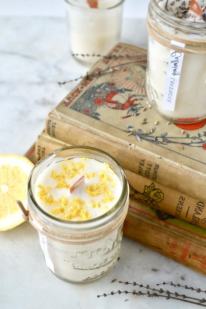 recette bougie vegan livres anciens faire ses bougies parfumées soi même zeste de citron