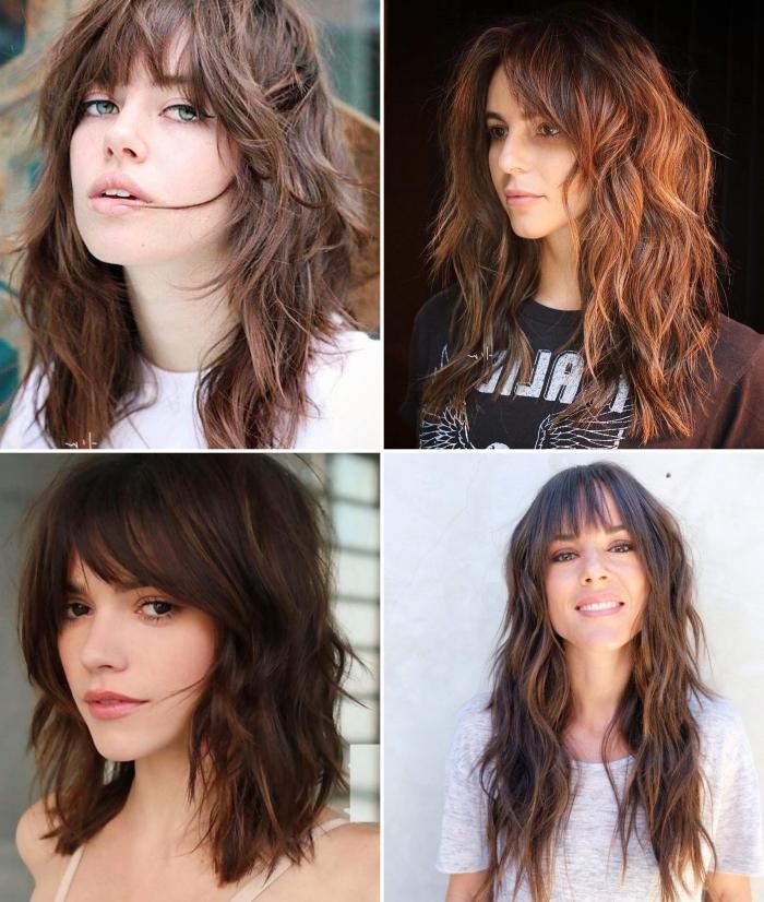 tendance coiffure cheveux femme 2021 coupe shaggy cheveux courts longs dégradés volume