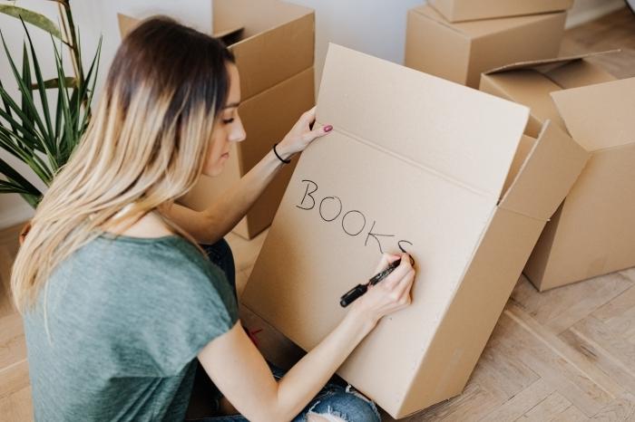 étapes à suivre pour réussite déménagement emballage affaires personnelles boîtes carton