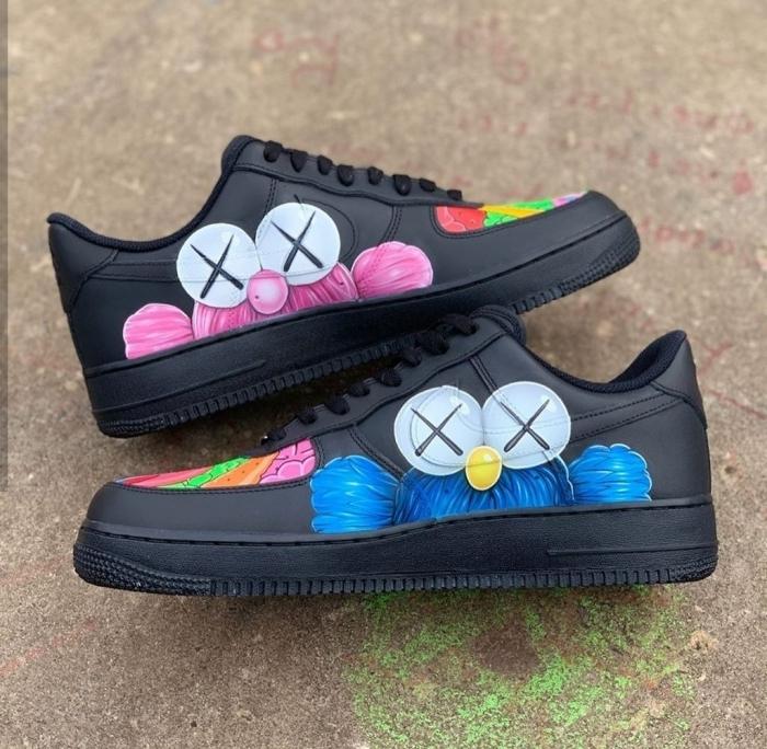 air force one customiser avec peinture technique décoration chaussures de sport peinture cuir
