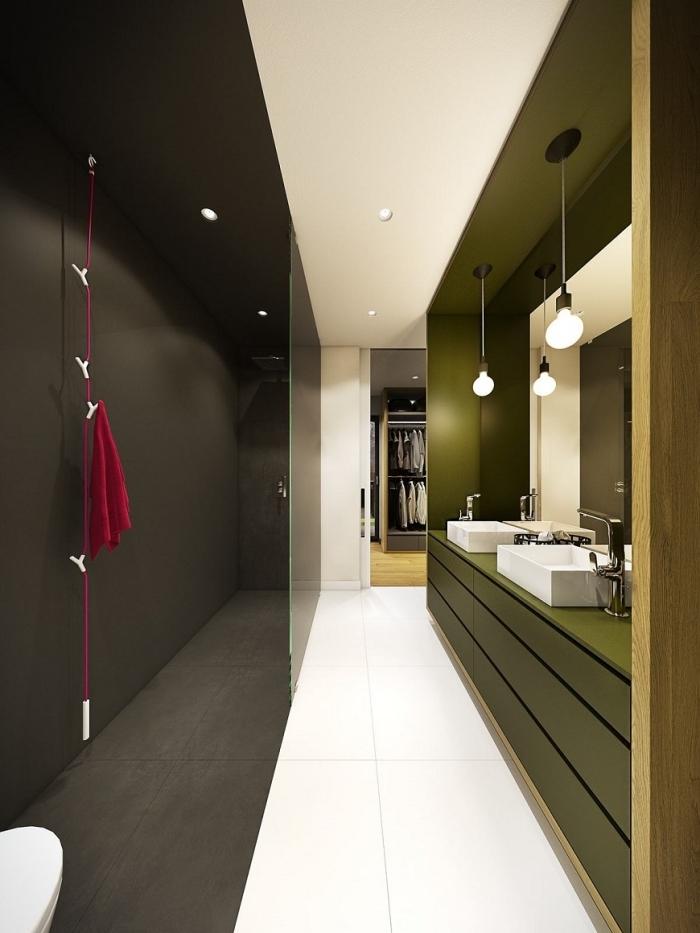couleur tendance 2021 décoration intérieure design salle de bain aménagement en longuer