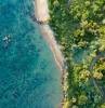 danang vietnam plage avec ocean foret vert
