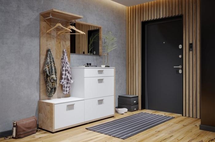 design d intérieur contemporain style peinture interieur maison revêtement sol bois meubles