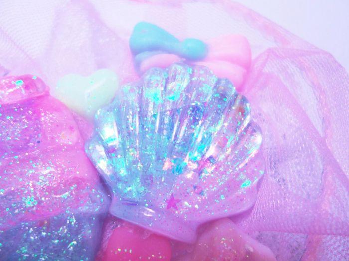 fonds marins inspiration image coquille de mer et pate rose et bleu exemple image pastel charmante