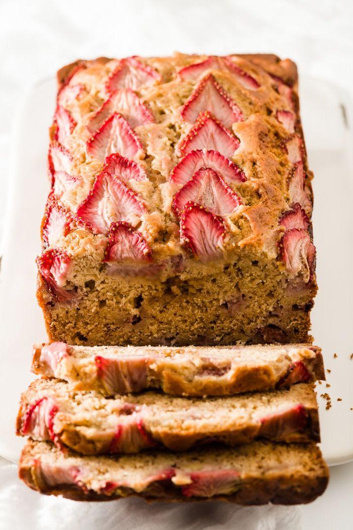 gateau a la banane et des fraises que faire avec des fraises dessert halthy sans sucre et sans gluten