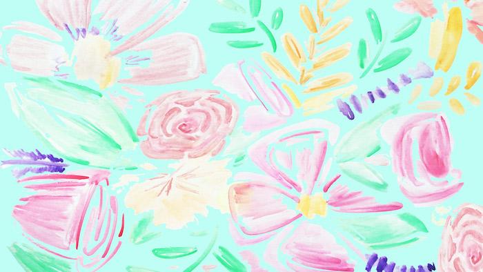 image artistique fond d écran aquarelle en couleur rose vert jaune violet image créative