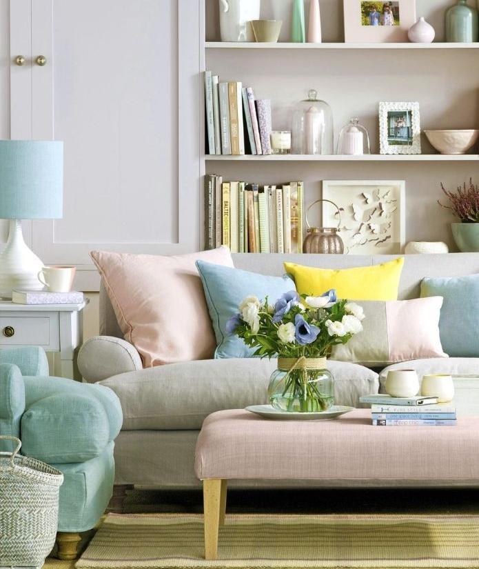 inteieur aux accents pastel idée de printemps maison inviter la saison avec des détails de tonalités fades