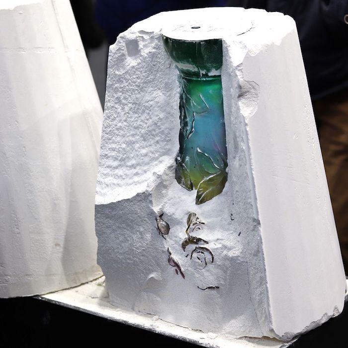 le processus de la fabrication des objets cristaux par daum france
