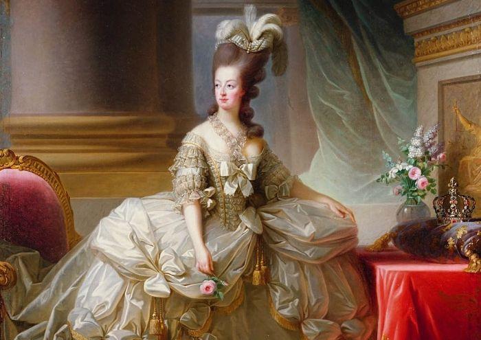 marie antoienette la reine à rendre les couleurs pastel populaires dans la crou royale mode et intérieur