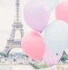 paysage tour eiffel paris avec des ballons pastel idée fond d écran trop stylé et chic pour pc