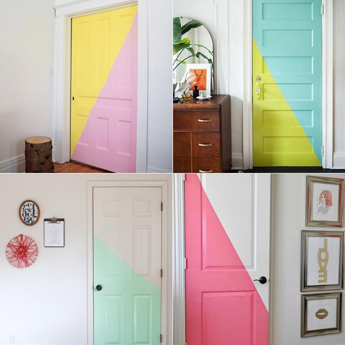 peindre couloir deux couleurs pour les portes idéee originale et acueillante